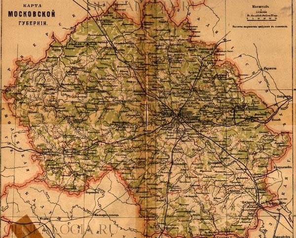 Карта московской губернии 1895 года